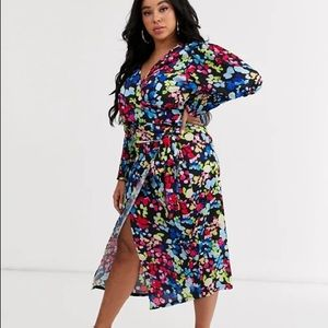 BNWT Never Fully Dressed Wrap skirt neon floral